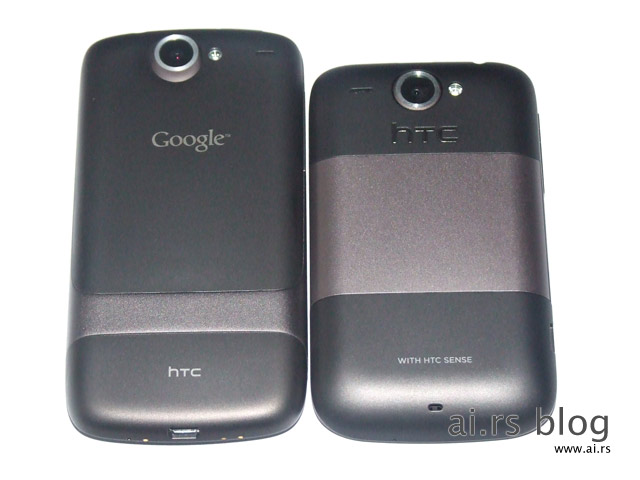 HTC Wildfire compared to Nexus One and HTC Desire, video preview | ai.rs