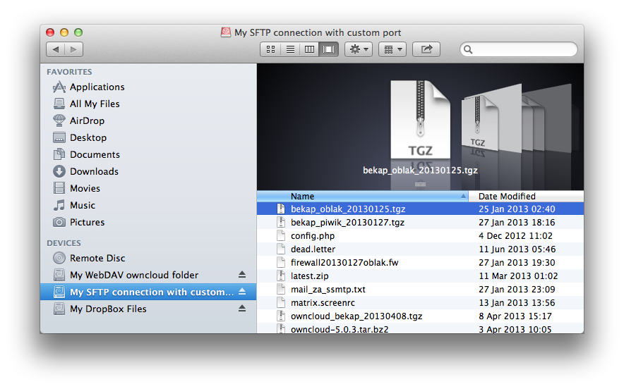 ExpanDrive mounted in Finder