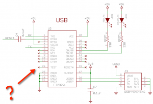 Arduino Nano USB detection problem schematics