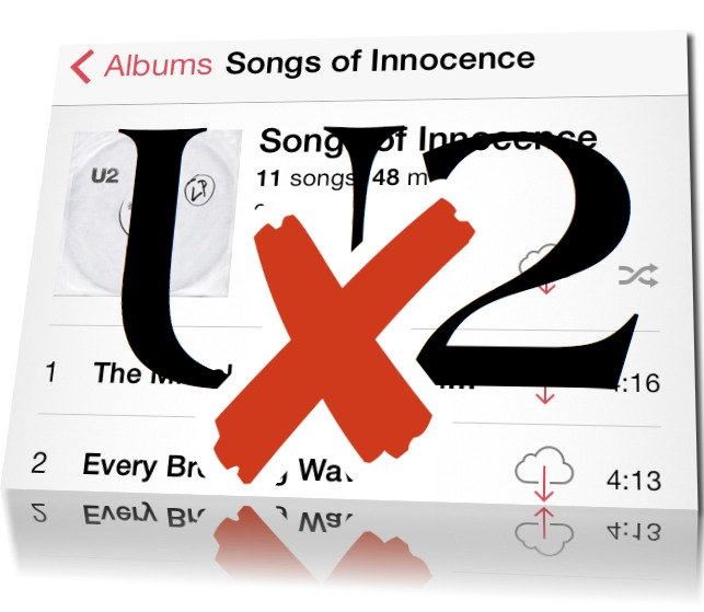 Remove U2 Album from iPhone or iPad